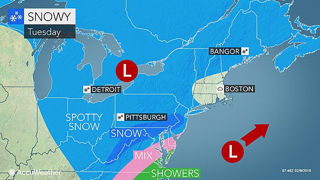 Philadelphia: Dangerous cold to follow rounds of snow this week