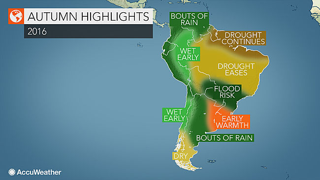 South America autumn forecast: Brazil drought…