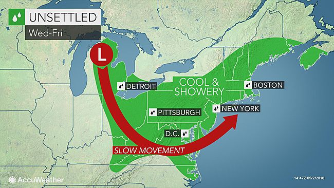Rounds of rain to frequent northeastern US through first week of May