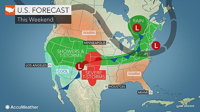 Los Angeles: Rain showers possible into the weekend
