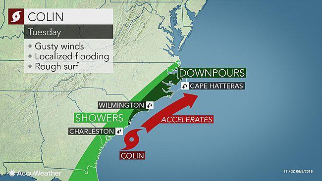 Tropical storm Colin U.S. east coast threats