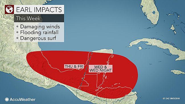Hurricane Earl forecast impacts