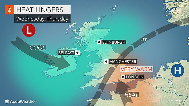 Last gasp of summer heat to bake southern England this week