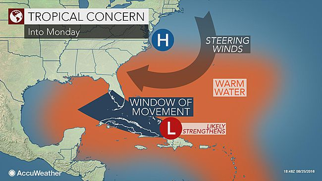 Invest 99L steering winds