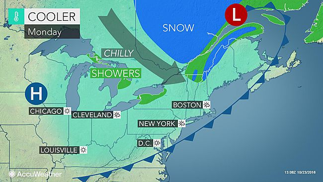 Reinforcing blast of chilly air to hit northeastern US early this week