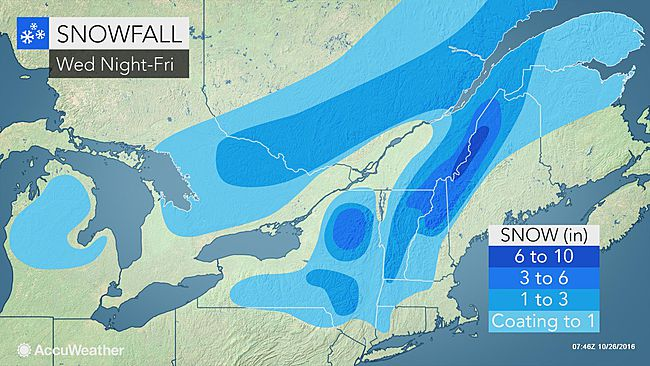 Fresh cold air to bring snow to parts of northeastern US before week's end