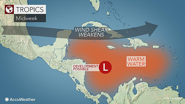 60% Chance of Late-Season Cyclone in Caribbean Say Forecasters