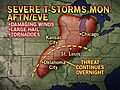 Dallas to Chicago: Severe Storm Outbreak Continues Monday