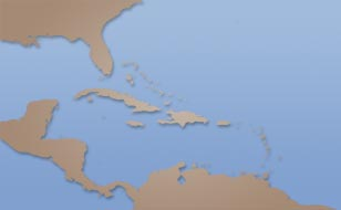 Dominican Republic weather satellite map