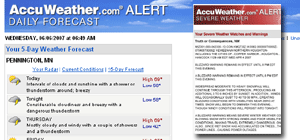 E-Mail Forecasts &amp; Alerts 
