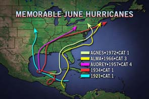 June Memorable Hurricanes image