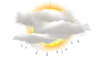 Mostly Cloudy W/ Showers: 13C