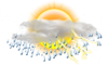Partly Sunny W/ T-Storms: 18C