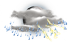 Mostly Cloudy W/ T-Storms: 18C