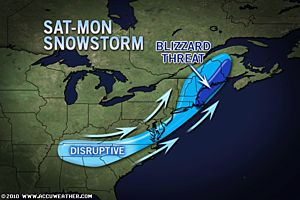 Christmas Winter Storm Threat Diminishing Somewhat